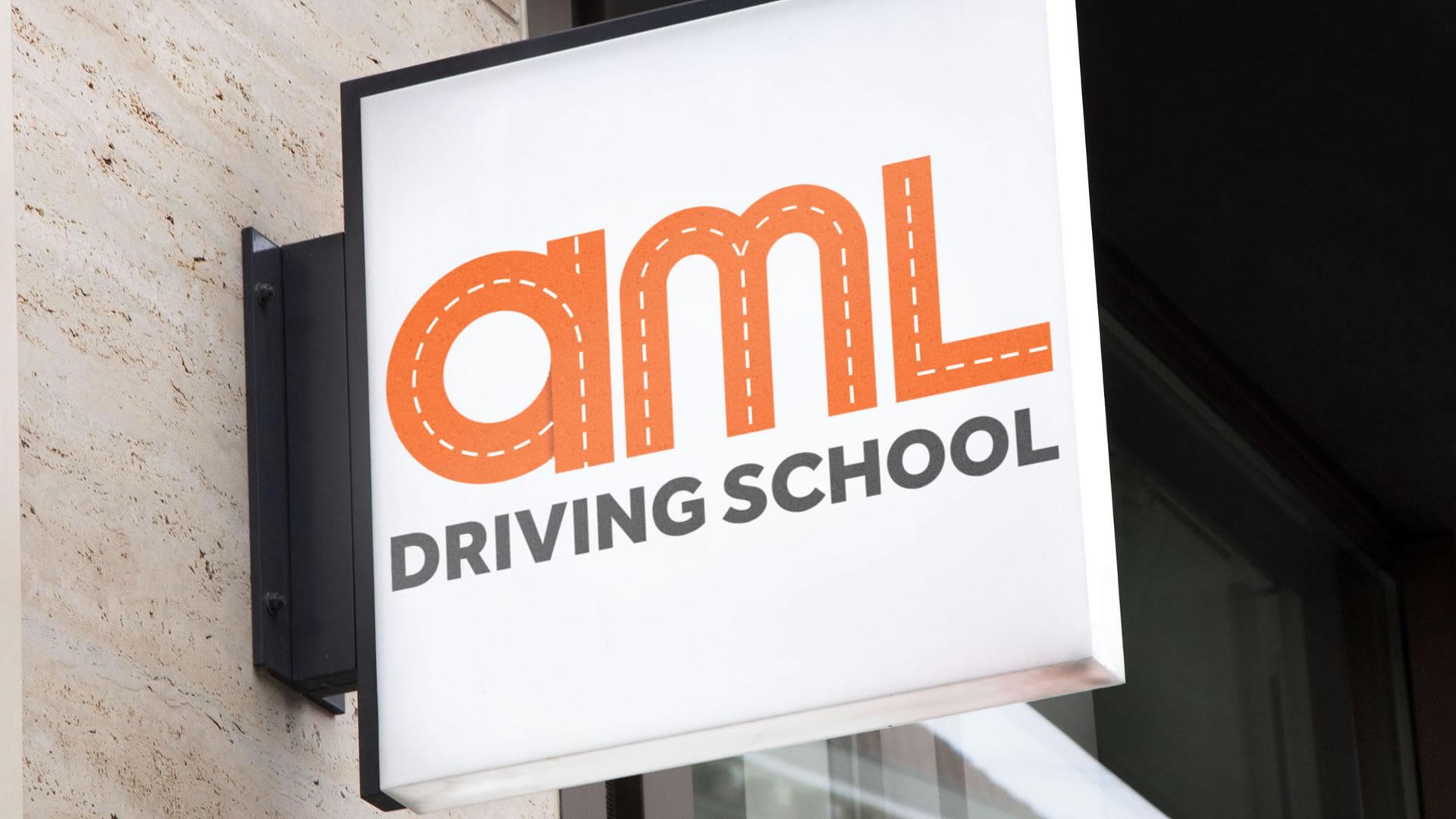 AML Driving School Logo Design Paphos Cyprus