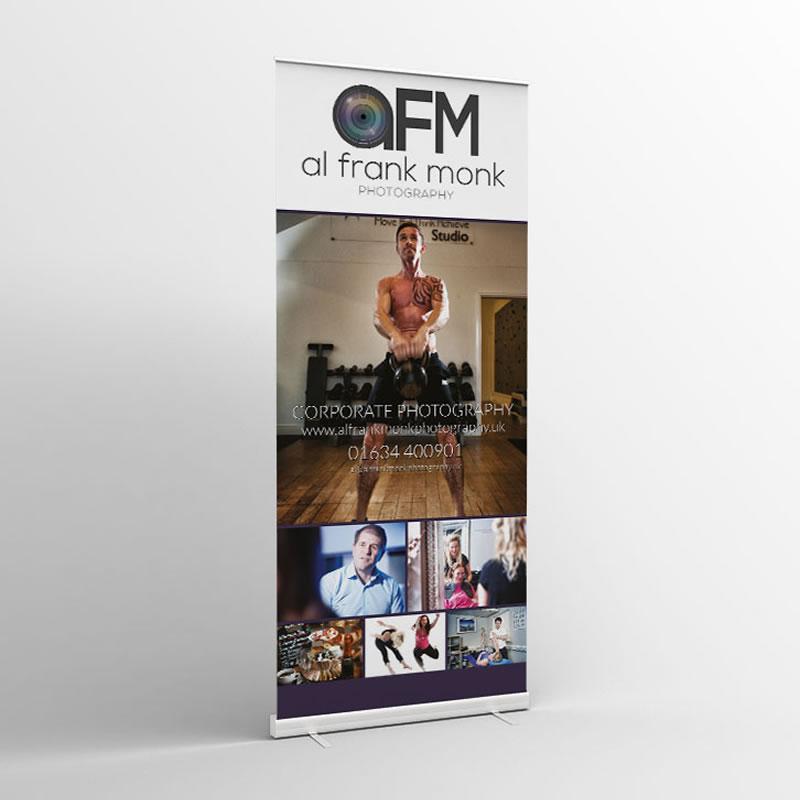 Al Frank Monk Roller Banner Design Paphos Cyprus