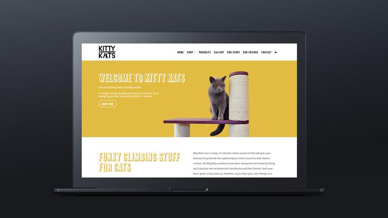 Kitty Kats Website Design Paphos Cyprus