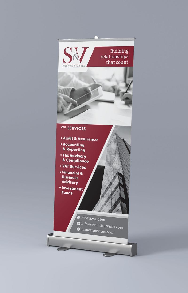 Savva Associates Roller Banner Design Paphos Cyprus
